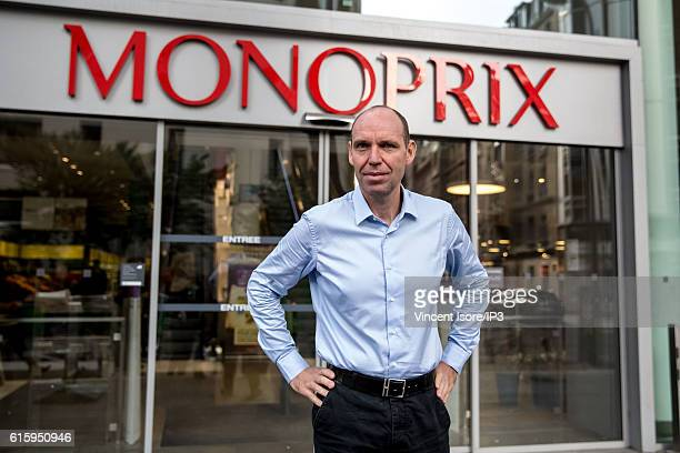 French President of Monoprix Regis Schultz inaugurates a new range of Bio signs at Monoprix Beaugrenelle on October 18 2016 in Paris France