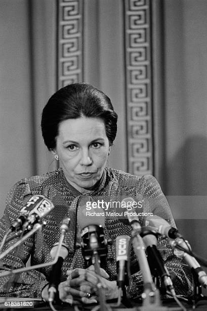 French presidential candidate MarieFrance Garaud gives a press conference in Paris during the first round of the 1981 presidential election With less...
