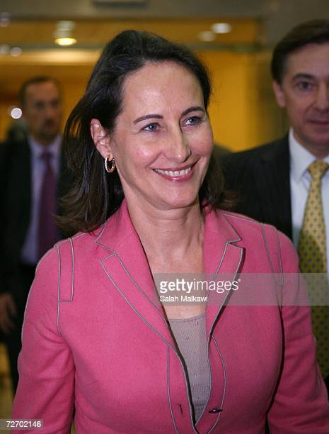 French presidential candidate Segolene Royal arrives at Queen Alia airport en route from Lebanon on December 02 2006 in Amman Jordan Royal visiting...