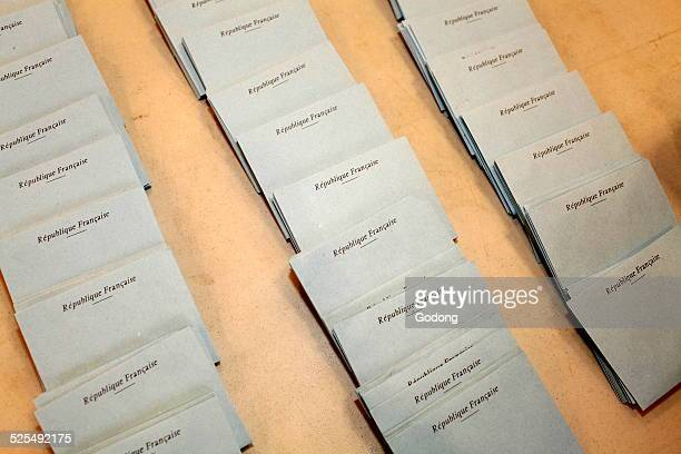 French presidential election ballots