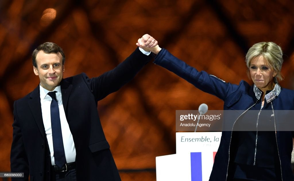 Emmanuel Macron wins the 2017 French presidential election : News Photo