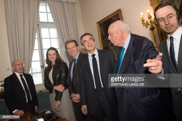 French presidential election candidate for the rightwing Les Republicains party Francois Fillon and MP Valerie Boyer meet with Marseille's mayor...