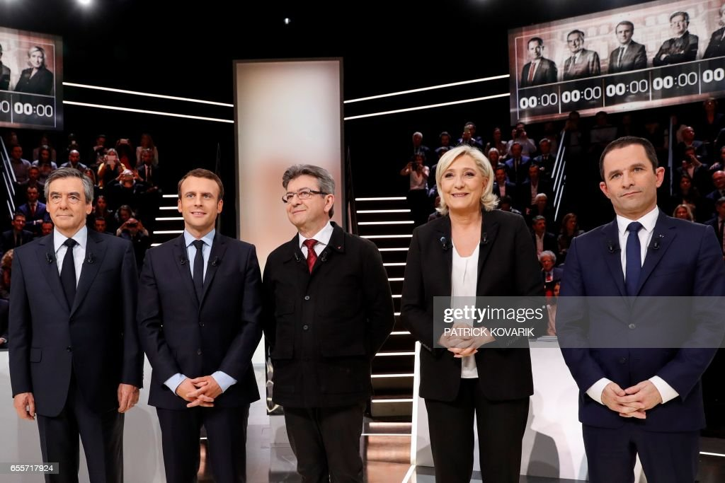 FRANCE2017-VOTE-DEBATE : News Photo