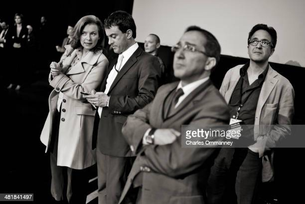 French presidential elections are photographed throughout France from April 16 to May 15 2012 Pictured is Valerie Treirweiler speaking with Hollande...