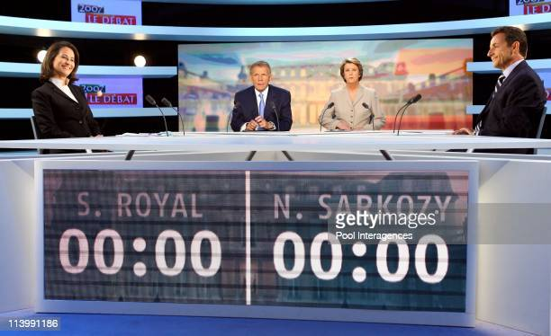 French Presidential Rivals Debate in Boulogne Billancourt France On May 02 2007The two candidates for the French presidential election socialist...