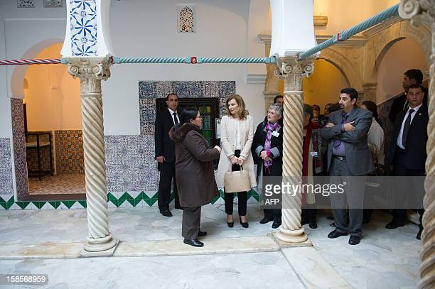 French President's companion Valerie Trierweiler visits the El Rais palace in Algiers on December 19 2012 Francois Hollande arrived in Algeria for a...