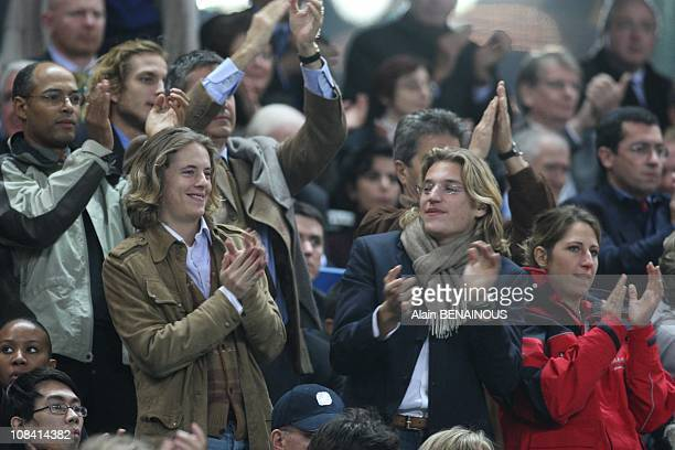 French President's sons Pierre and Jean in Paris France on October 13th 2007