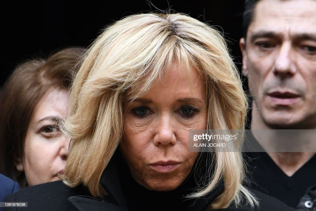 French President S Wife Brigitte Macron Attends The Funeral Ceremony News Photo Getty Images