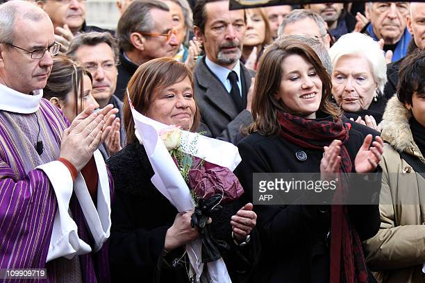 French priest Philippe Desgens , French actress Annie Girardot's daughter Giulia Salvatori , granddaughter Lola Vogel and singer and actress Line...