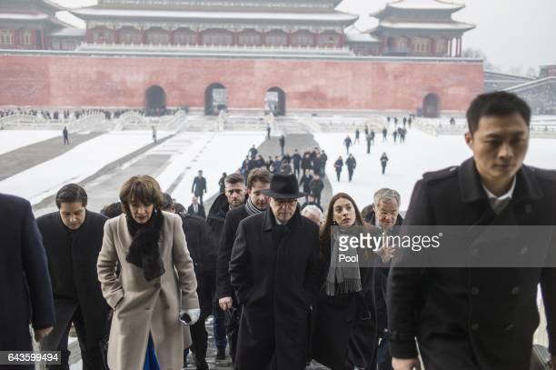 French Prime Minister Bernard Cazeneuve French Minister for Social Affairs and Health Marisol Touraine and French delegation visit the Forbidden city...
