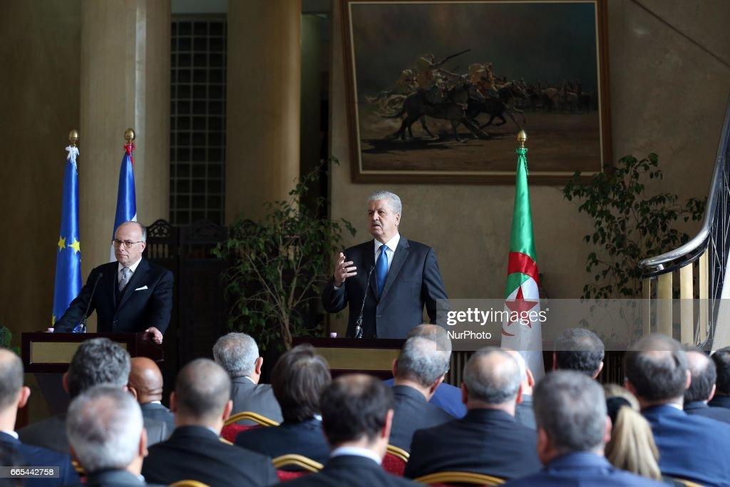 French Prime Minister Bernard Cazeneuve in Algiers