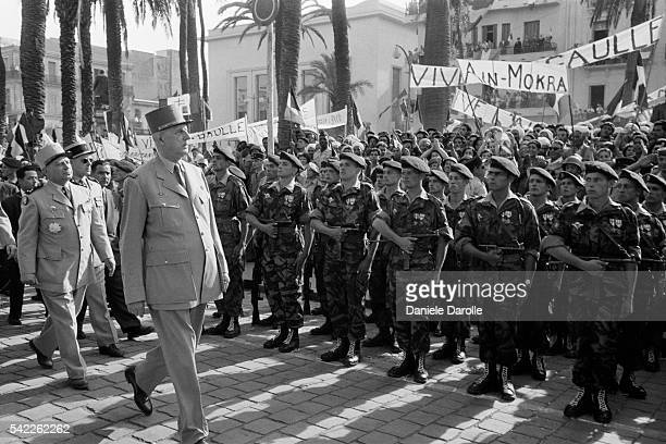 French Prime Minister Charles de Gaulle during his first official visit to Algeria.
