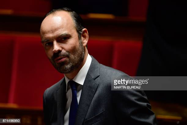 French Prime Minister Edouard Philippe attends a session of questions to the government at the National Assembly in Paris on November 15 2017 / AFP...