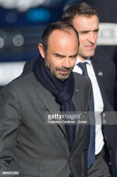 French Prime Minister Edouard Philippe during Johnny Hallyday's funeral at Eglise De La Madeleine on December 9 2017 in Paris France France pays...