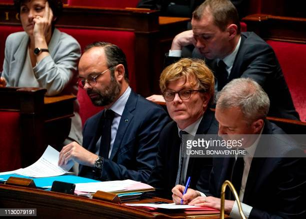 French Prime Minister Edouard Philippe French Junior Minister of Relations with the Parliament Marc Fesneau French Environment Minister Francois de...