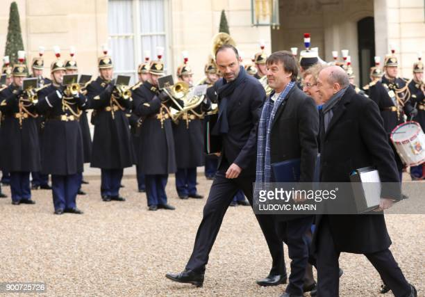 French Prime Minister Edouard Philippe French Minister for the Ecological and Inclusive Transition Nicolas Hulot French Labour Minister Muriel...