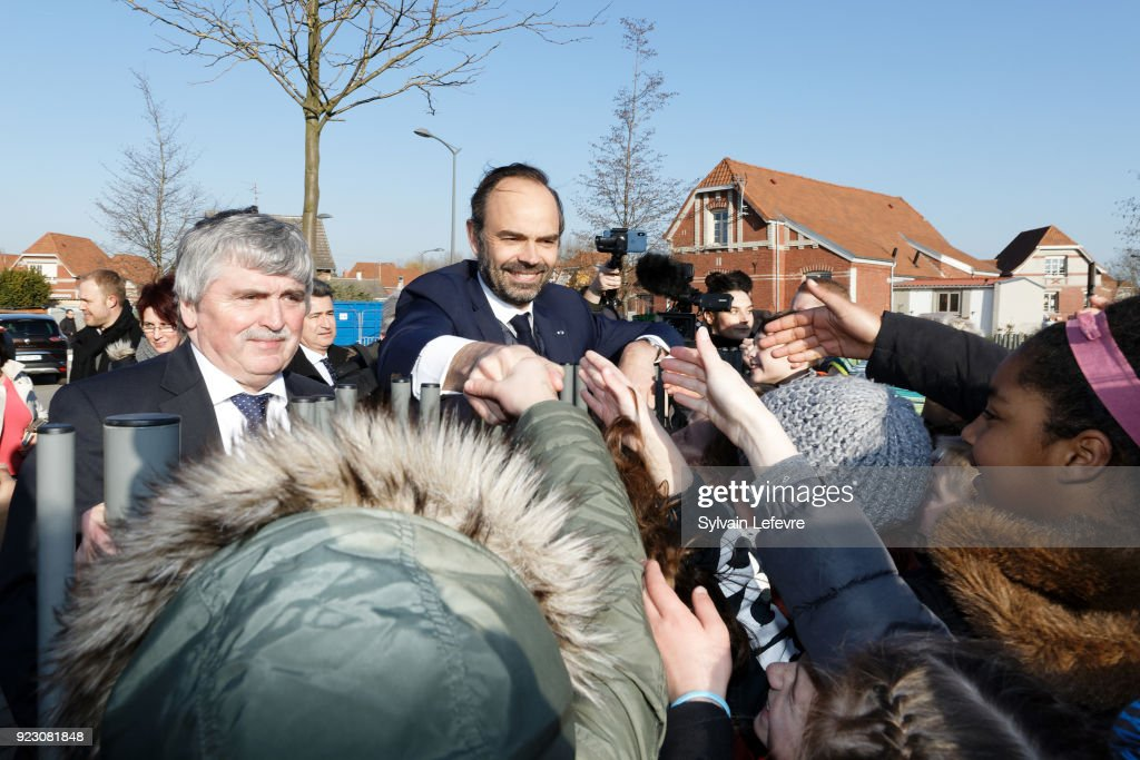 French Prime Minister Edouard Philippe Visits Northern France : Day One