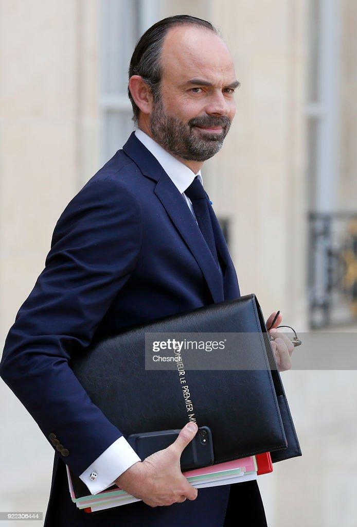Conseil Des Ministres At Elysee Palace In Paris : News Photo