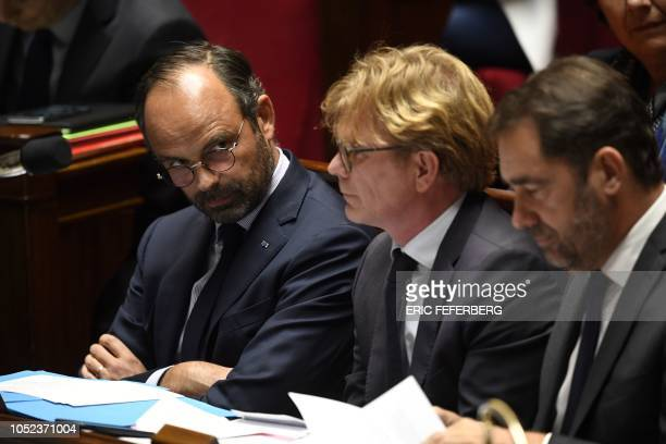 French Prime Minister Edouard Philippe, newly-appointed French deputy minister in charge of Relations with the Parliament Marc Fesneau and...