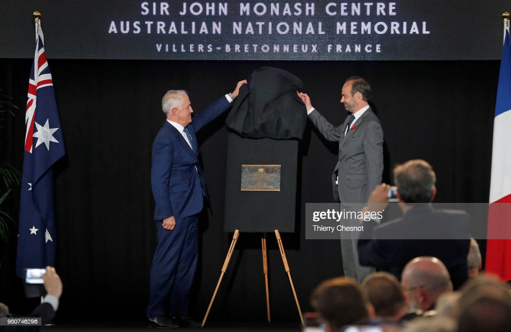 Opening of the Sir John Monash Center At Villiers-Bretnonneux