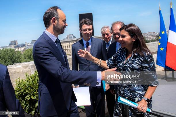 French Prime Minister Edouard Philippe Secretary of State Benjamin Grivaux French Economist Christian Noyer President of Greater Paris Metropolis...