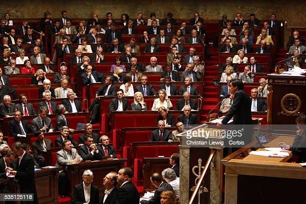 French Prime Minister Francois Fillon addresses lawmakers at the National Assembly, in Paris.