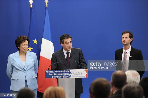 French Prime Minister Francois Fillon speaks during a press conference in Paris on June 25 after a meeting with representatives of the committee...