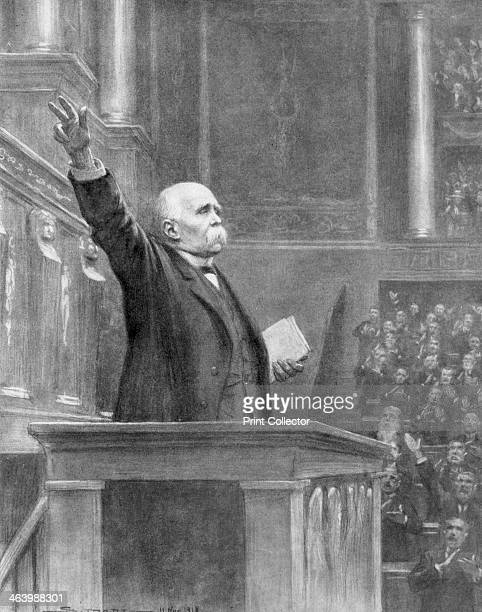 French Prime Minister Georges Clemenceau announces the end of the war, 11am, 11 November 1918 .