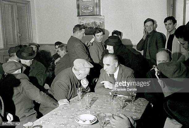 French Prime Minister Georges Pompidou during an official trip to the French department of Cantal