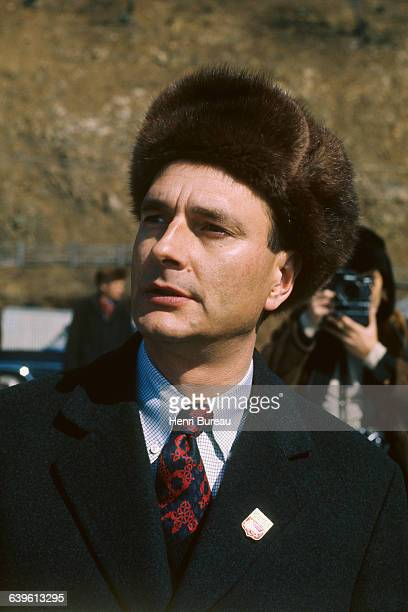 French Prime Minister Jacques Chirac during an official visit to the USSR