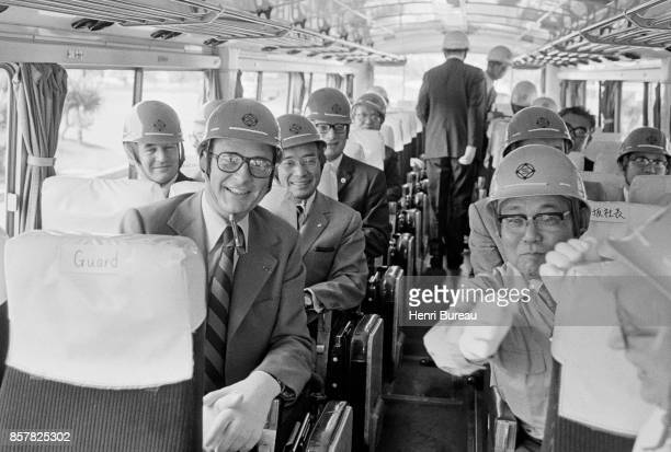 French Prime Minister Jacques Chirac visiting Nippon Steel's factory at Kimitsu on a trip in Japan 1st August 1976