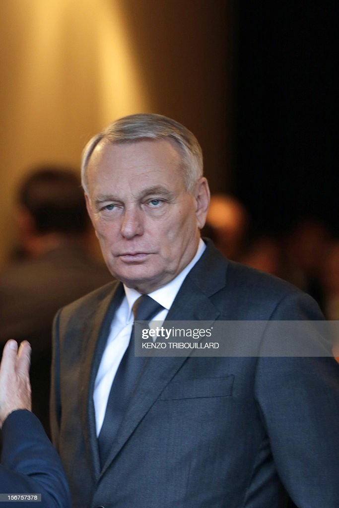 French Prime Minister Jean-Marc Ayrault arrives to attend the opening ceremony of the 95th French Mayors congress, on November 20, 2012 in Paris.
