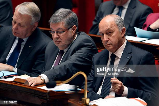 French Prime Minister JeanMarc Ayrault French Junior Minister in Charge of Relations with the Parliament Alain Vidalies and French Foreign Affairs...