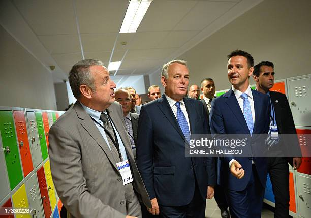 French Prime Minister JeanMarc Ayrault visits the French High School Anna de Noailles at in Bucharest on July 11 2013 AFP PHOTO DANIEL MIHAILESCU