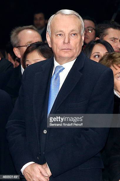 French Prime Minister JeanMarc Ayrault watches the Bartabas show whyle the 'Nuit De La Chine' Opening Night at Grand Palais on January 27 2014 in...