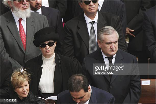French prime minister Jean-Pierre Raffarin and wife Anne-Marie in Rome, Italy on April 24th, 2005.