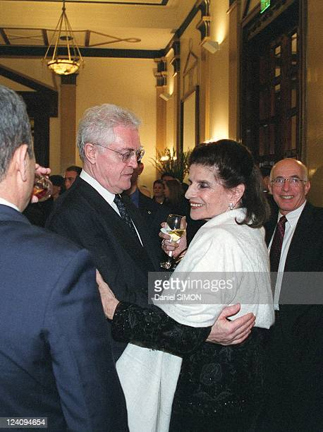 French Prime Minister Lionel Jospin visit In Jerusalem, Israel On February 25, 2000 - With Lea Rabin.