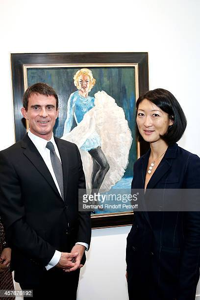 French Prime Minister Manuel Valls and French minister of Culture and Communication Fleur Pellerin attend the FIAC 2014 International Contemporary...