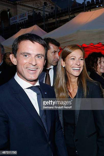 French Prime Minister Manuel Valls and his wife Music Booking of the Opera Anne Gravoin attend 'La Traviata' Opera en Plein Air produced by Benjamin...