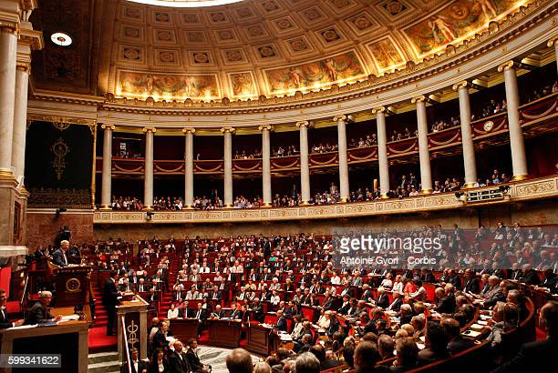 French Prime Minister Manuel Valls delivers his speech at the National Assembly in Paris France Tuesday Sept 16 2014 France's prime minister faces a...