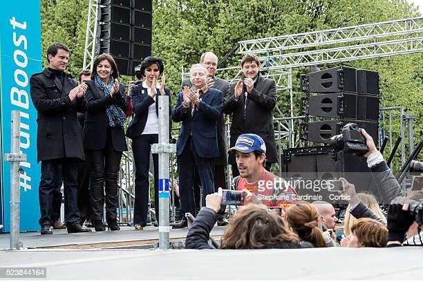 French Prime Minister Manuel Valls Mayor of Paris Anne Hidalgo Mayor of Paris 7 district Rachida Dati Jean Todt Prince Albert II of Monaco and Sports...