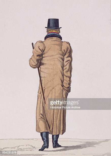 French Print of a Man in an Overcoat