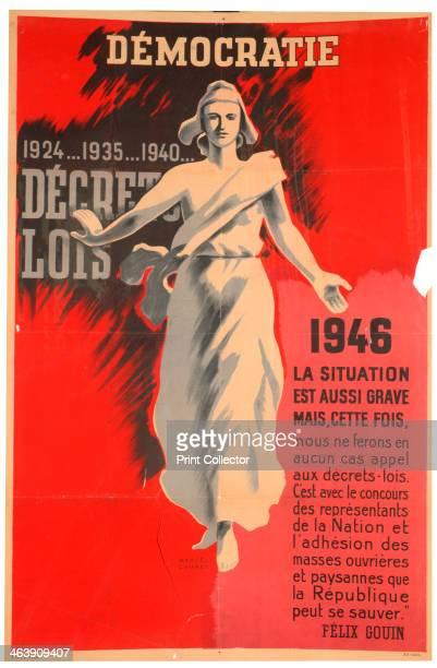 French prodemocracy poster 1946
