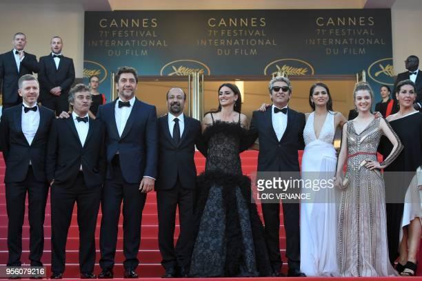 TOPSHOT French producer Alexandre MalletGuy Spanish actor Eduard Fernandez Spanish actor Javier Bardem Iranian director Asghar Farhadi Spanish...