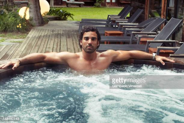 French professional rugby player Yoann Huget is photographed for Paris Match on June 10, 2011 in Megeve, France.