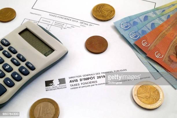 Französische Eigenschaft Steuerbescheid