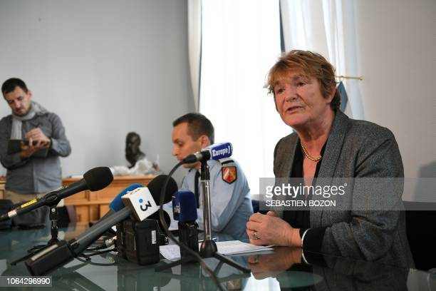 French prosecutor of Mulhouse Edwige RouxMorizot gives a press conference at the Mulhouse courthouse on November 22 regarding the case of a 9yearold...