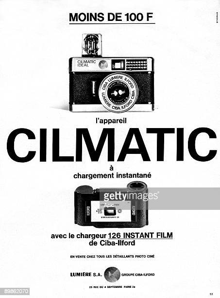 French publicity for the camera Climatic by CibaIlford publishing during 1970's