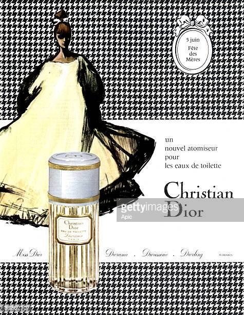 French publicity for the eau de toilette Diorama by Christian Dior publishing during the 1960's