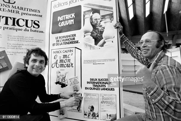 French publisher JeanClaude Lattes poses with French writer Patrick Cauvin at the Festival du Livre in Nice on May 5 1977 / AFP PHOTO / STR